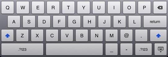 iPad CAPS LOCK
