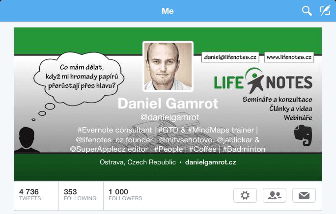 Twitter a 1000 folowers