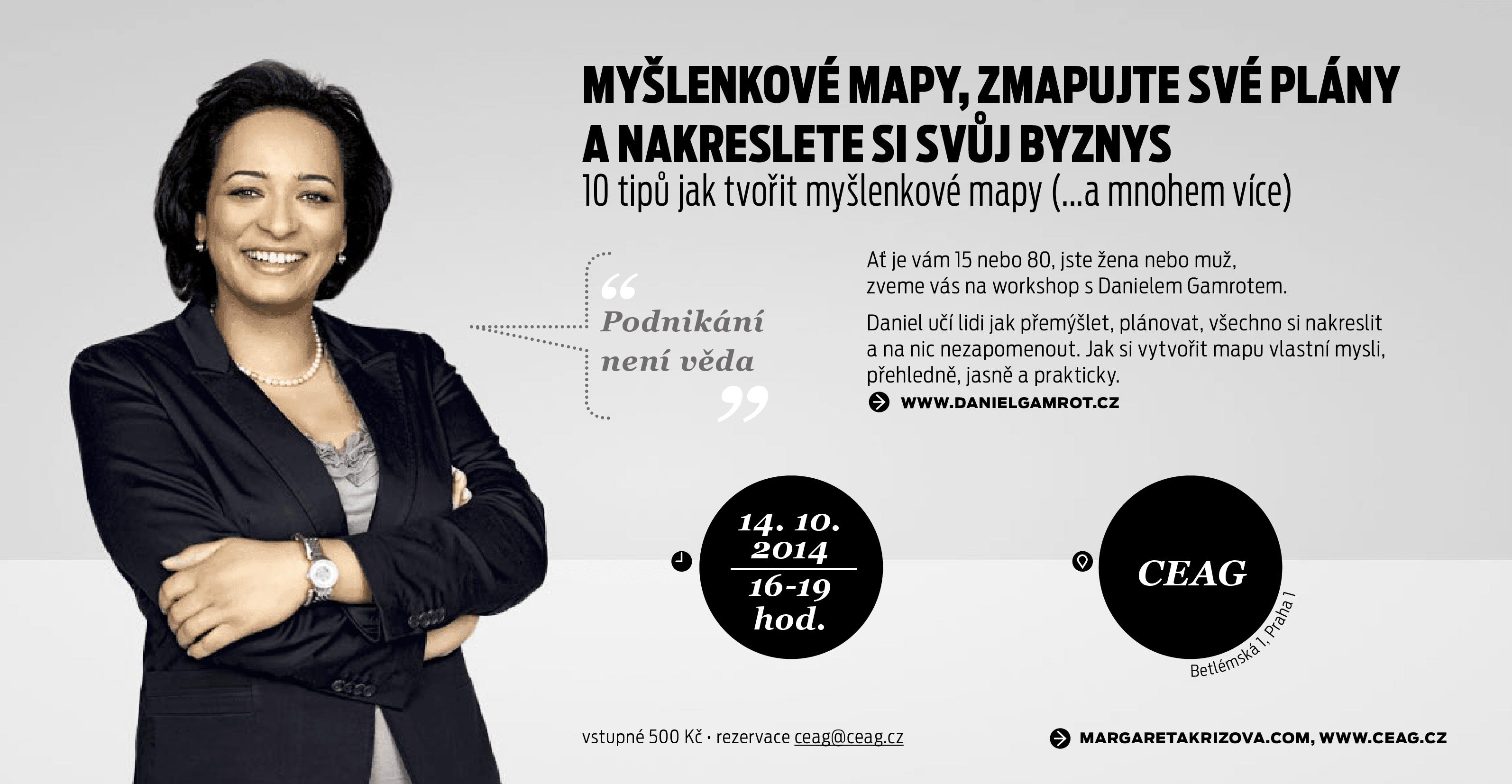 Pozvánka na workshop Byznysklubu - myšlenkové mapy