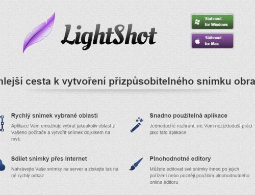 LightShot – snímejte obrazovku jako profík