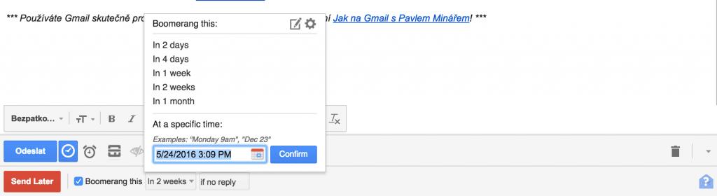 Boomerang pro Gmail