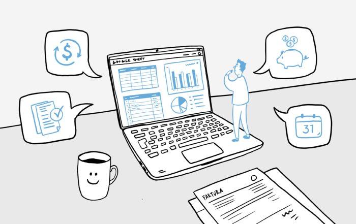 CRM a správa financí v Google Tabulce