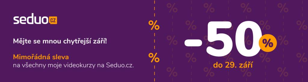 Sleva na SEDUO kurzy 50 %
